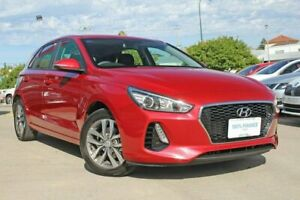 2017 Hyundai i30 PD Active Red 6 Speed Auto Sequential Hatchback Victoria Park Victoria Park Area Preview