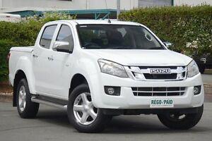 2013 Isuzu D-MAX MY12 LS Crew Cab High Ride White 5 Speed Sports Automatic Utility Acacia Ridge Brisbane South West Preview