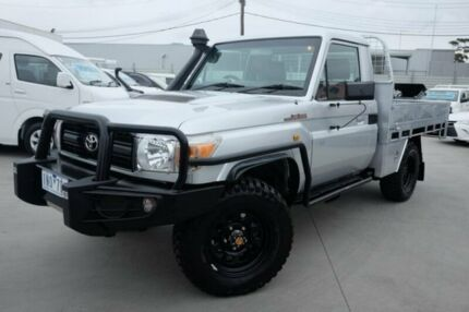 2009 Toyota Landcruiser VDJ79R MY10 Workmate Silver 5 Speed Manual Cab Chassis Dandenong Greater Dandenong Preview