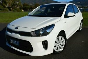 2017 Kia Rio YB MY18 S White 4 Speed Sports Automatic Hatchback Derwent Park Glenorchy Area Preview