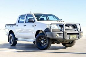 2014 Toyota Hilux KUN26R MY14 SR Double Cab White 5 Speed Automatic Utility Liverpool Liverpool Area Preview