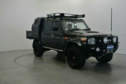 2015 Toyota Landcruiser VDJ79R GXL Double Cab Graphite 5 Speed Manual Cab Chassis Victoria Park Victoria Park Area Preview
