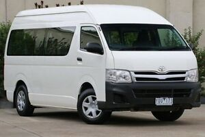 2011 Toyota Hiace TRH223R MY11 Commuter High Roof Super LWB White 4 Speed Automatic Bus Dandenong Greater Dandenong Preview