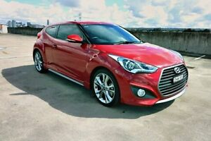 2016 Hyundai Veloster FS4 Series II SR Coupe D-CT Turbo + Red 7 Speed Sports Automatic Dual Clutch Haymarket Inner Sydney Preview