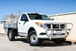 2014 Mazda BT-50 UP0YD1 XT 4x2 Hi-Rider White 6 Speed Sports Automatic Cab Chassis Pearsall Wanneroo Area Preview