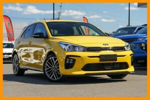 2018 Kia Rio YB MY19 GT-Line DCT Mighty Yellow 7 Speed Sports Automatic Dual Clutch Hatchback Mount Gravatt Brisbane South East Preview