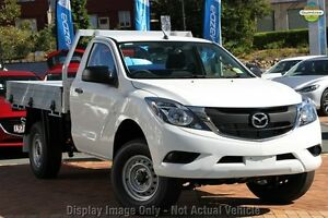 2017 Mazda BT-50 UR0YE1 XT 4x2 Hi-Rider Cool White 6 Speed Sports Automatic Cab Chassis West Hindmarsh Charles Sturt Area Preview