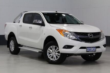 2011 Mazda BT-50 XTR (4x2) White 6 Speed Manual Dual Cab Utility Bentley Canning Area Preview