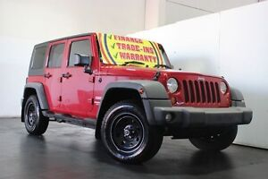 2007 Jeep Wrangler Unlimited JK Sport (4x4) Red 6 Speed Manual Softtop Underwood Logan Area Preview