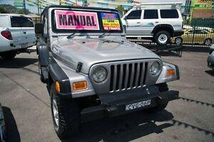 2001 Jeep Wrangler TJ Sport Grey 5 Speed Manual Softtop Minchinbury Blacktown Area Preview