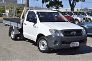 2010 Toyota Hilux TGN16R MY10 Workmate 4x2 White 5 Speed Manual Cab Chassis Wangara Wanneroo Area Preview