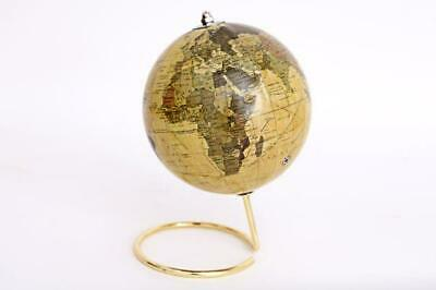 Gold Vintage Metal Stand Rotating World Globe Atlas Ornament Desk Decor Gift