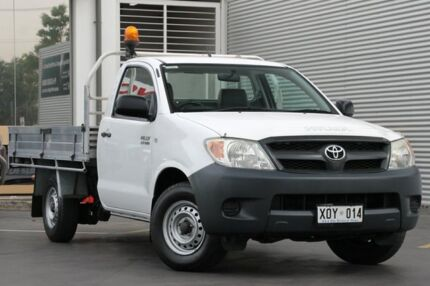 2007 Toyota Hilux TGN16R MY07 Workmate 4x2 Glacier White 5 Speed Manual Cab Chassis Adelaide CBD Adelaide City Preview