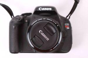 _-canon T3i + lentille 50mm en excellente état, tres bonne_-