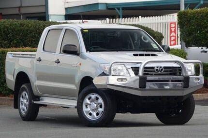 2012 Toyota Hilux KUN26R MY12 SR Double Cab Silver Metallic 5 Speed Manual Utility Acacia Ridge Brisbane South West Preview