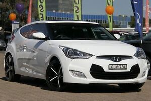 2012 Hyundai Veloster FS MY13 + White 6 Speed Auto Dual Clutch Coupe Zetland Inner Sydney Preview