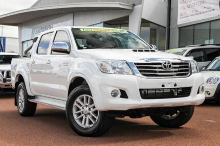 2013 Toyota Hilux KUN26R MY12 SR5 Double Cab Glacier White 4 Speed Automatic Utility