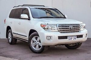 2014 Toyota Landcruiser VDJ200R MY13 Sahara White 6 Speed Sports Automatic Wagon Myaree Melville Area Preview