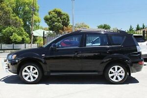 2012 Mitsubishi Outlander ZH MY12 Enhancement Pack 2WD Black 5 Speed Manual Wagon Hillcrest Port Adelaide Area Preview