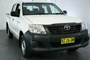 2014 Toyota Hilux TGN16R MY14 Workmate Double Cab 4x2 White 5 Speed Manual Utility Maryville Newcastle Area Preview