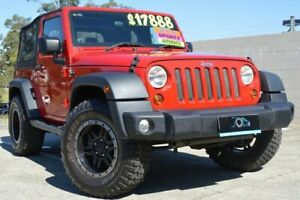 2011 Jeep Wrangler JK MY2011 Sport 70th Anniversary Red 4 Speed Automatic Hardtop Ashmore Gold Coast City Preview