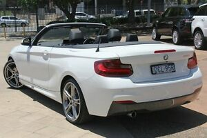 2015 BMW 220i F23 Sport Line White 8 Speed Automatic Convertible Petersham Marrickville Area Preview