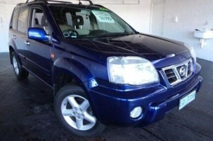 2002 Nissan X-Trail T30 TI Blue 5 Speed Manual Wagon Derwent Park Glenorchy Area Preview