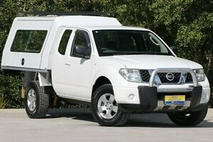 2008 Nissan Navara D40 RX King Cab White 6 Speed Manual Cab Chassis Ferntree Gully Knox Area Preview