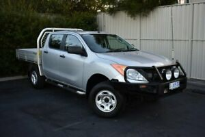 2012 Mazda BT-50 UP0YF1 XT Silver 6 Speed Manual Cab Chassis South Burnie Burnie Area Preview