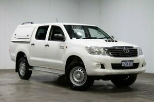 2014 Toyota Hilux KUN26R MY14 SR Double Cab White 5 Speed Automatic Cab Chassis Welshpool Canning Area Preview