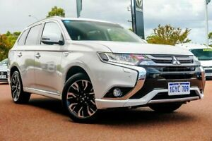 2017 Mitsubishi Outlander ZK MY18 PHEV AWD Exceed White 1 Speed Automatic Wagon Hybrid Wangara Wanneroo Area Preview