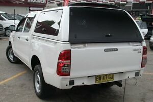 2013 Toyota Hilux GGN15R MY12 SR White 5 Speed Automatic Dual Cab Pick-up Homebush Strathfield Area Preview