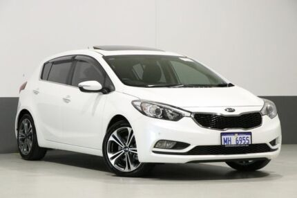 2013 Kia Cerato YD MY14 SLi Pearl White 6 Speed Automatic Hatchback Bentley Canning Area Preview
