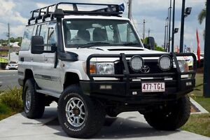2010 Toyota Landcruiser VDJ76R MY10 Workmate White 5 Speed Manual Wagon Kedron Brisbane North East Preview