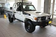 2010 Toyota Landcruiser VDJ79R 09 Upgrade Workmate (4x4) White 5 Speed Manual Cab Chassis Thornleigh Hornsby Area Preview