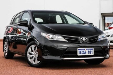 2014 Toyota Corolla ZRE182R Ascent S-CVT Black 7 Speed Constant Variable Hatchback