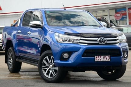 2015 Toyota Hilux GUN126R SR5 Double Cab Blue 6 Speed Sports Automatic Utility