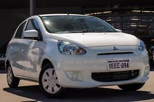 2013 Mitsubishi Mirage LA MY14 ES White 5 Speed Manual Hatchback Pearsall Wanneroo Area Preview