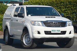 2013 Toyota Hilux KUN26R MY12 SR Double Cab Glacier White 4 Speed Automatic Utility Acacia Ridge Brisbane South West Preview