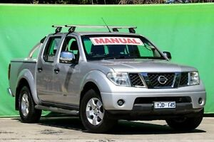 2007 Nissan Navara D40 ST-X Silver 6 Speed Manual Utility Ringwood East Maroondah Area Preview