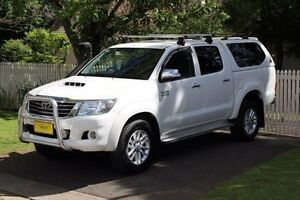 2013 Toyota Hilux KUN26R MY12 SR5 Double Cab White 4 Speed Automatic Utility Hawthorn Mitcham Area Preview