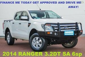 2014 Ford Ranger PX XLS Double Cab White 6 Speed Sports Automatic Utility Wangara Wanneroo Area Preview