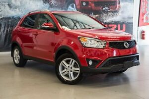 2015 Ssangyong Korando C200 MY15 SX 2WD Flaming Red 6 Speed Automatic Wagon Hillman Rockingham Area Preview