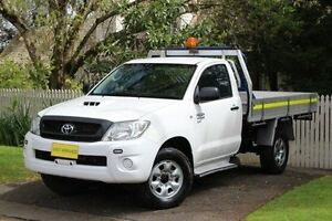 2011 Toyota Hilux KUN26R MY10 SR White 4 Speed Automatic Cab Chassis Hawthorn Mitcham Area Preview