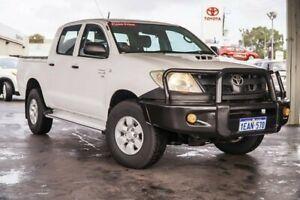 2009 Toyota Hilux KUN26R MY09 SR Glacier White 5 Speed Manual Utility Osborne Park Stirling Area Preview