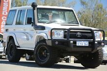 2011 Toyota Landcruiser VDJ76R MY10 Workmate White 5 Speed Manual Wagon Clarkson Wanneroo Area Preview