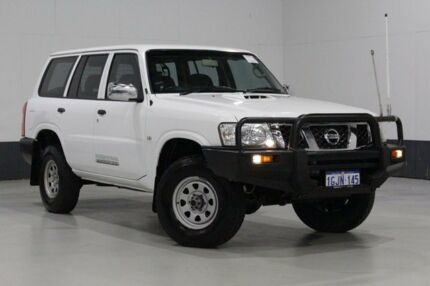 2012 Nissan Patrol GU VII DX (4x4) White 4 Speed Automatic Wagon
