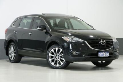 2015 Mazda CX-9 MY14 Grand Touring Black 6 Speed Auto Activematic Wagon Bentley Canning Area Preview