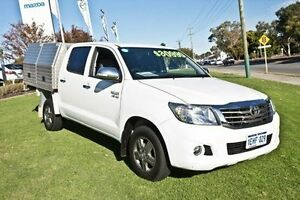 2013 Toyota Hilux GGN15R MY12 SR5 Double Cab White 5 Speed Automatic Utility Wangara Wanneroo Area Preview