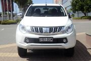 2015 Mitsubishi Triton MQ MY16 GLS Double Cab White 5 Speed Sports Automatic Utility Wayville Unley Area Preview